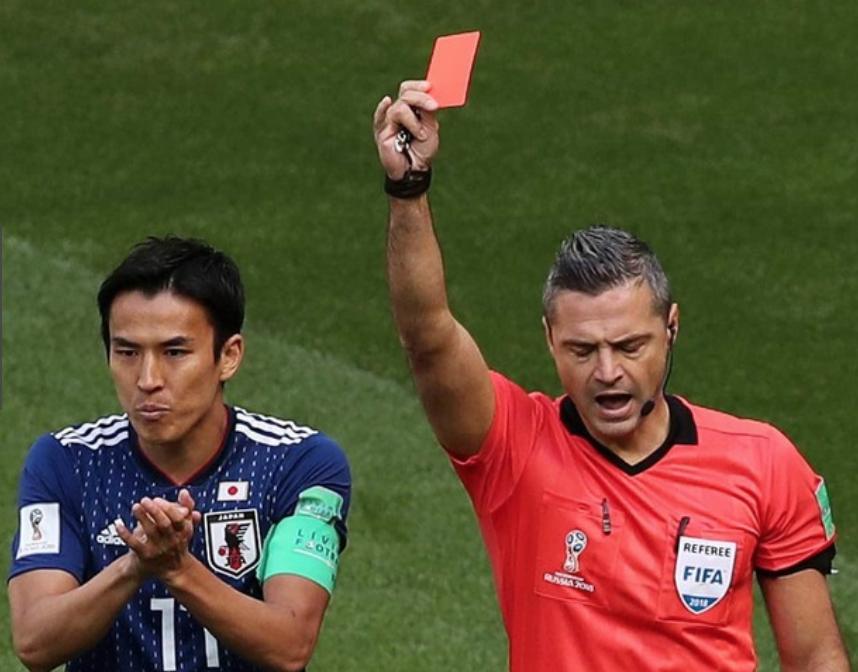 日本代表vsコロンビア戦レッドカード出した主審の名前や画像【ロシアW杯】