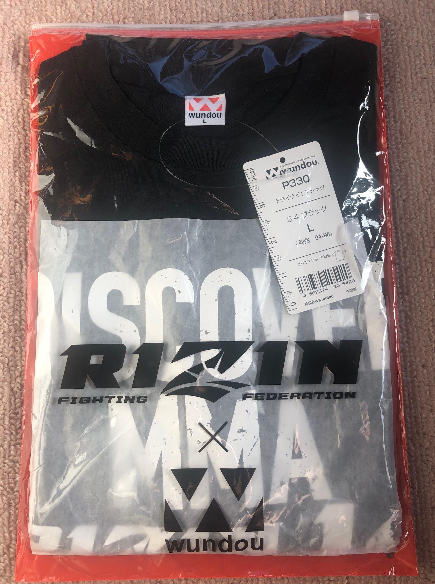 ライジンの会場入口でもらった大会記念Tシャツと紙袋の中身を公開!
